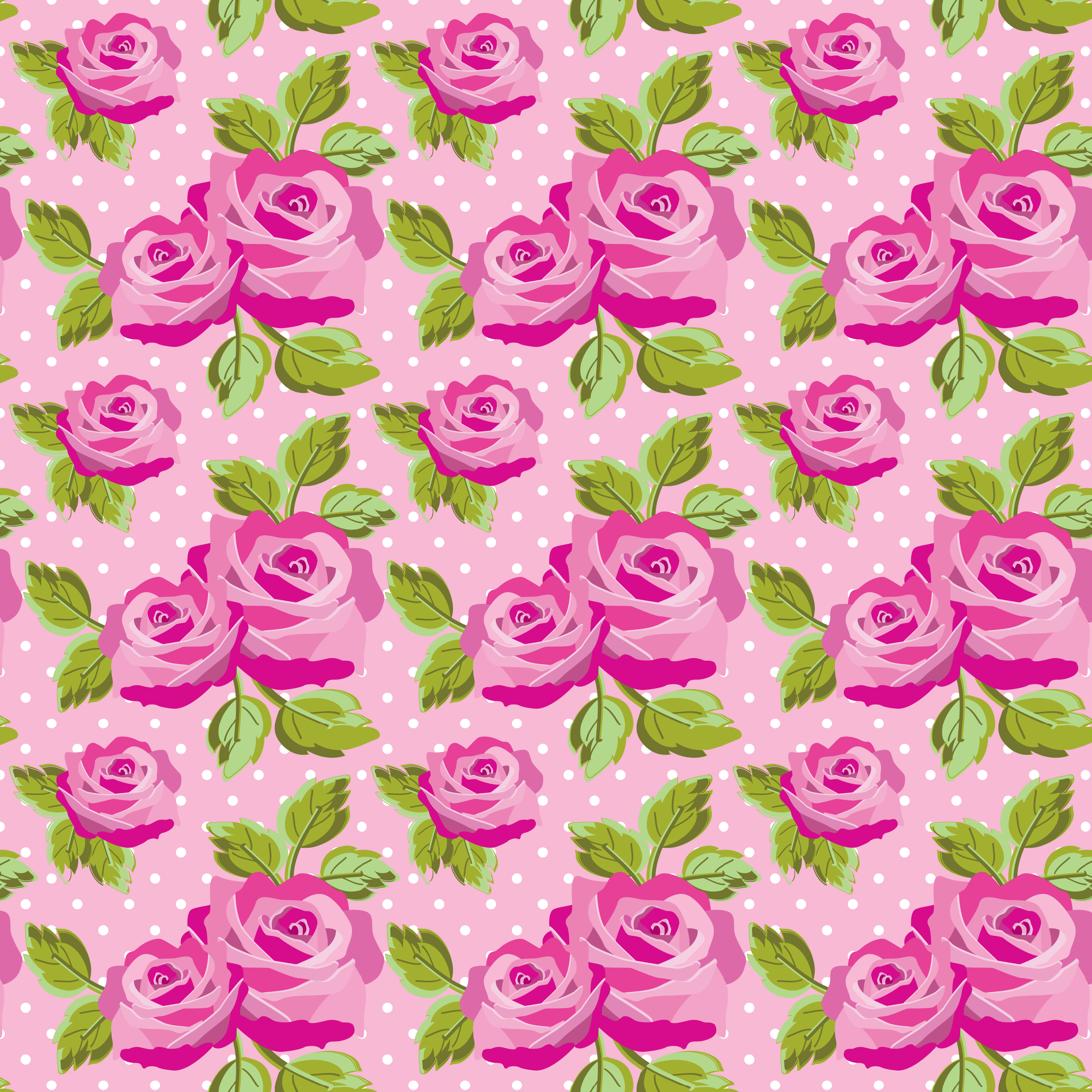 Free 3000x3000 Pink Rose Floral Wallpaper Background Vector High