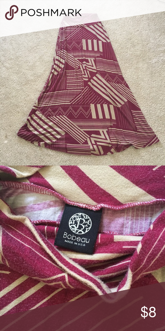 Maxi skirt Maxi skirt from Nordstrom. Vintage feel to the material and coloring. Pairs well with a white tee or tank and some cute sandals! Light and comfortable and totally adorable! bobeau Skirts Maxi