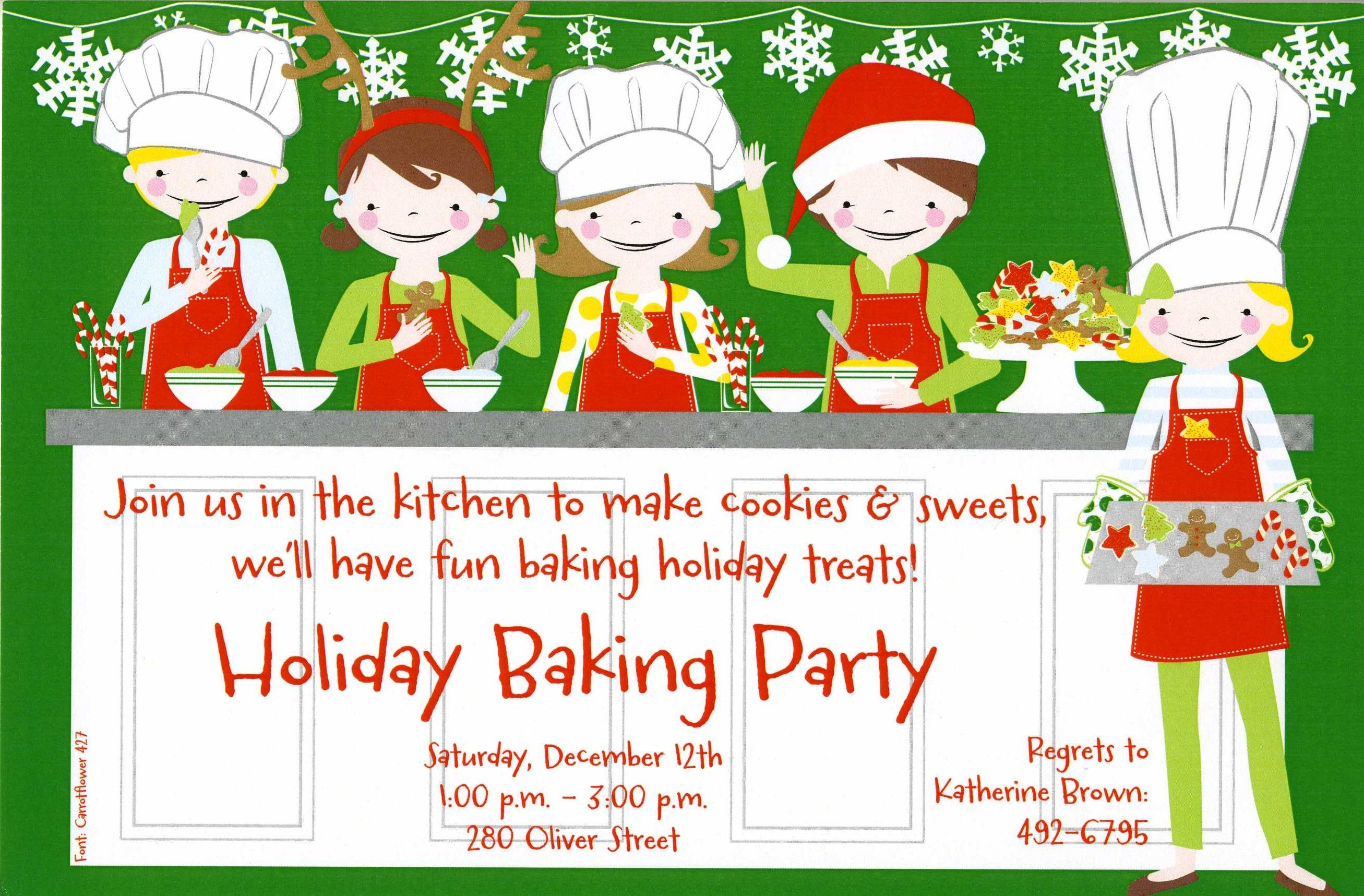 Awesome Christmas Cookie Baking Party Ideas Part - 2: Quick View - Cookie Kids - Impressions In Print - Paper, Photo Cards,  Custom Invitations