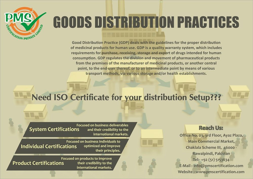 Good Distribution Practice (GDP) deals with the guidelines
