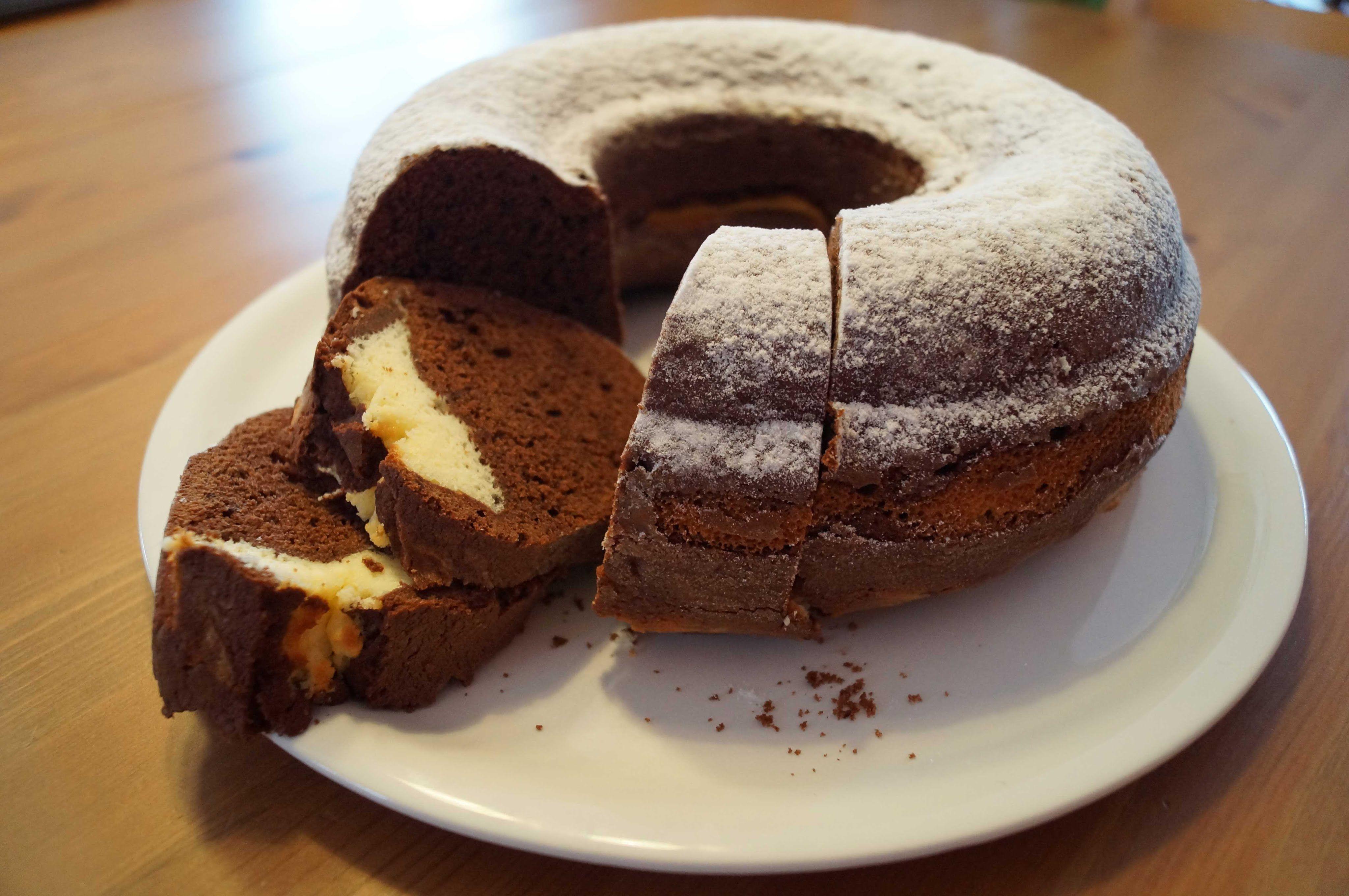 Schokokuchen Mit Cheesecakefullung Kuchen Pinterest