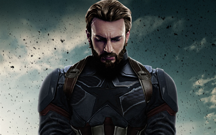 Download Wallpapers Captain America 2018 Movie Superheroes Avengers Infinity War Besthqwallpapers Com Chris Evans Captain America Avengers Captain America
