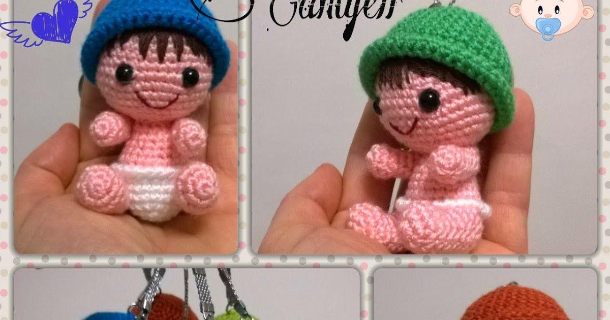 Amigurumi Bebek Tarifleri : Bebek anahtarlik tarİfİ baby keychain pattern ters sık iğne için