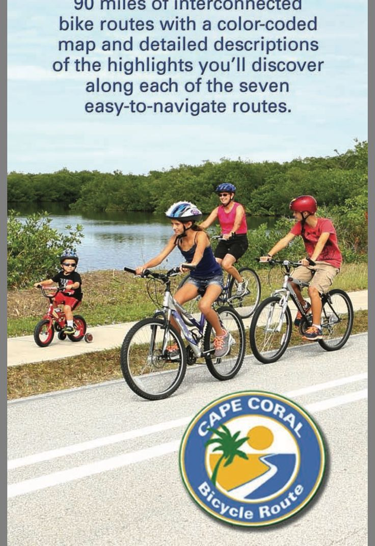 Map of bicycle paths in cape coral florida cape coral