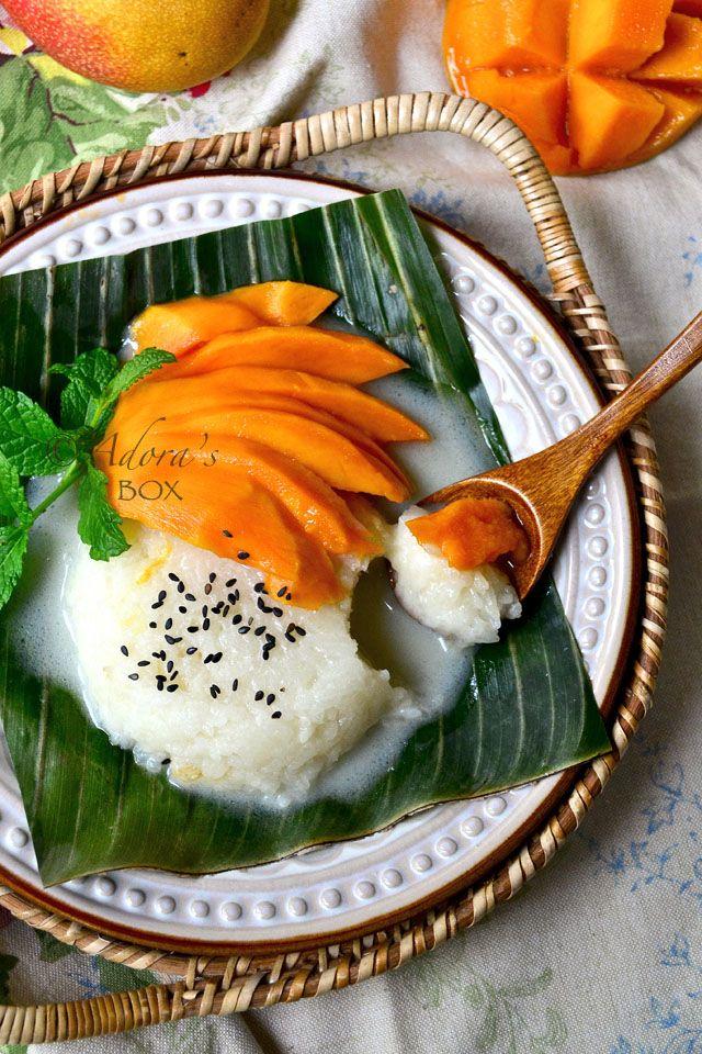 Thai Sticky Rice and Mango Dessert | Mango dessert, Asian ...