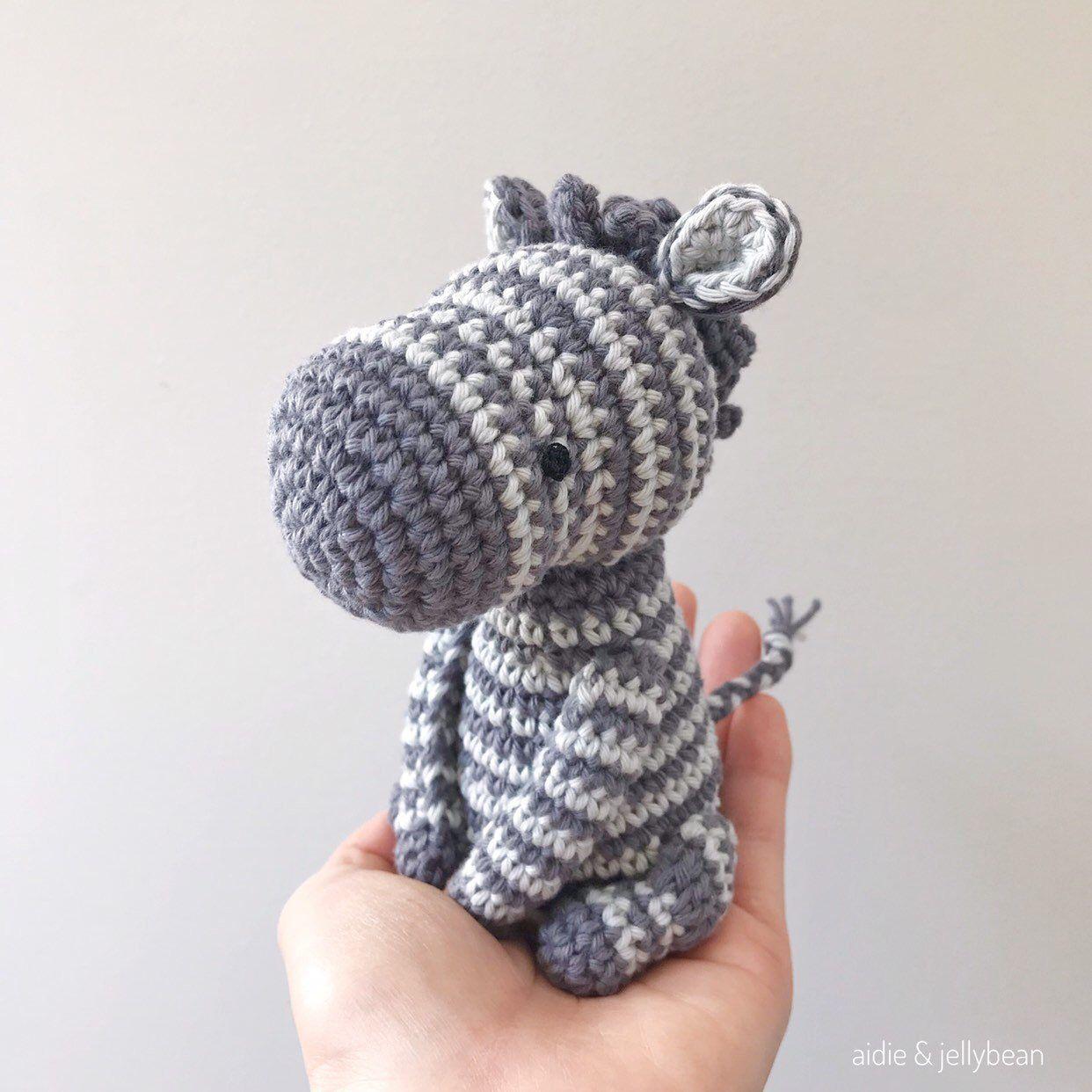 Crochet Stuffed Zebra Amigurumi Toy | 1242x1242
