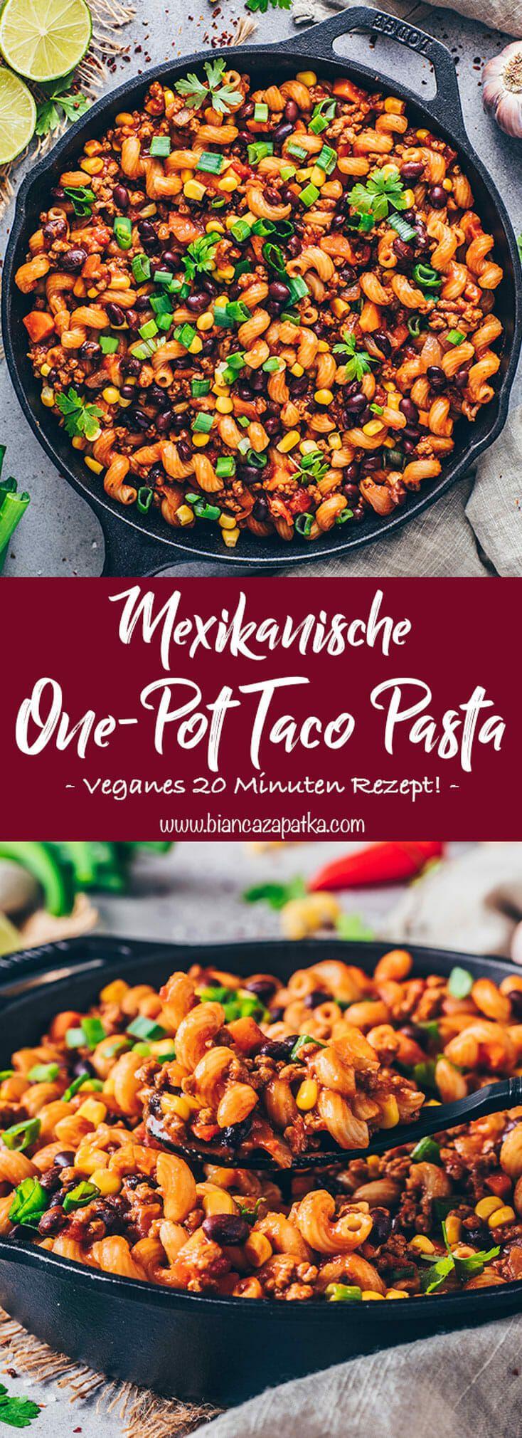 Mexikanische One-Pot Pasta (Vegan & Einfach) - Bianca Zapatka | Rezepte