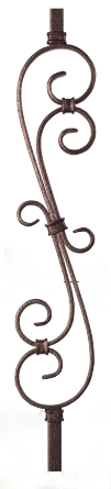 Best Crown Heritage 2708Cv 44 Hollow Forged Iron Baluster From 400 x 300
