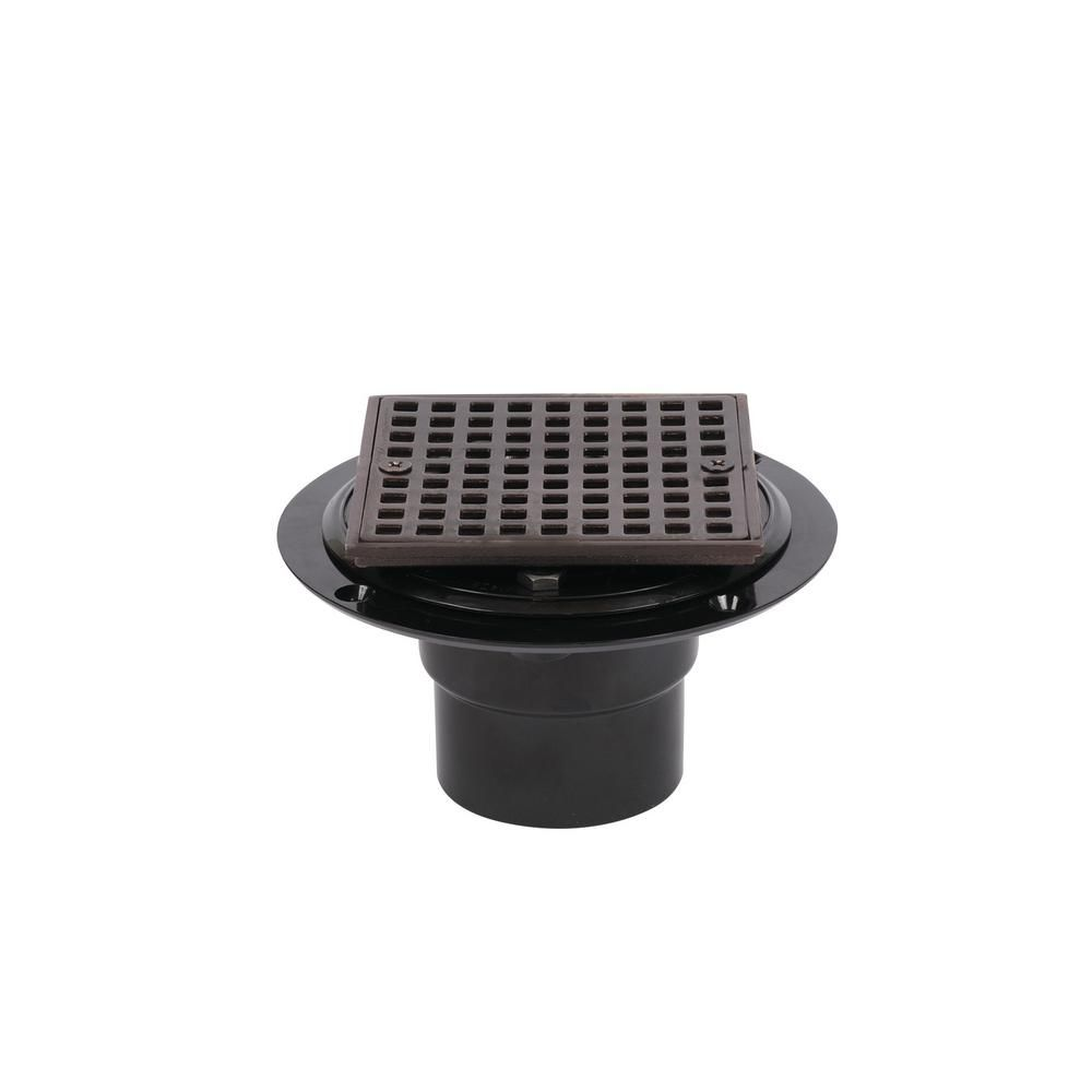 Oatey Abs Shower Drain With Square 4 3 16 In Oil Rubbed Bronze