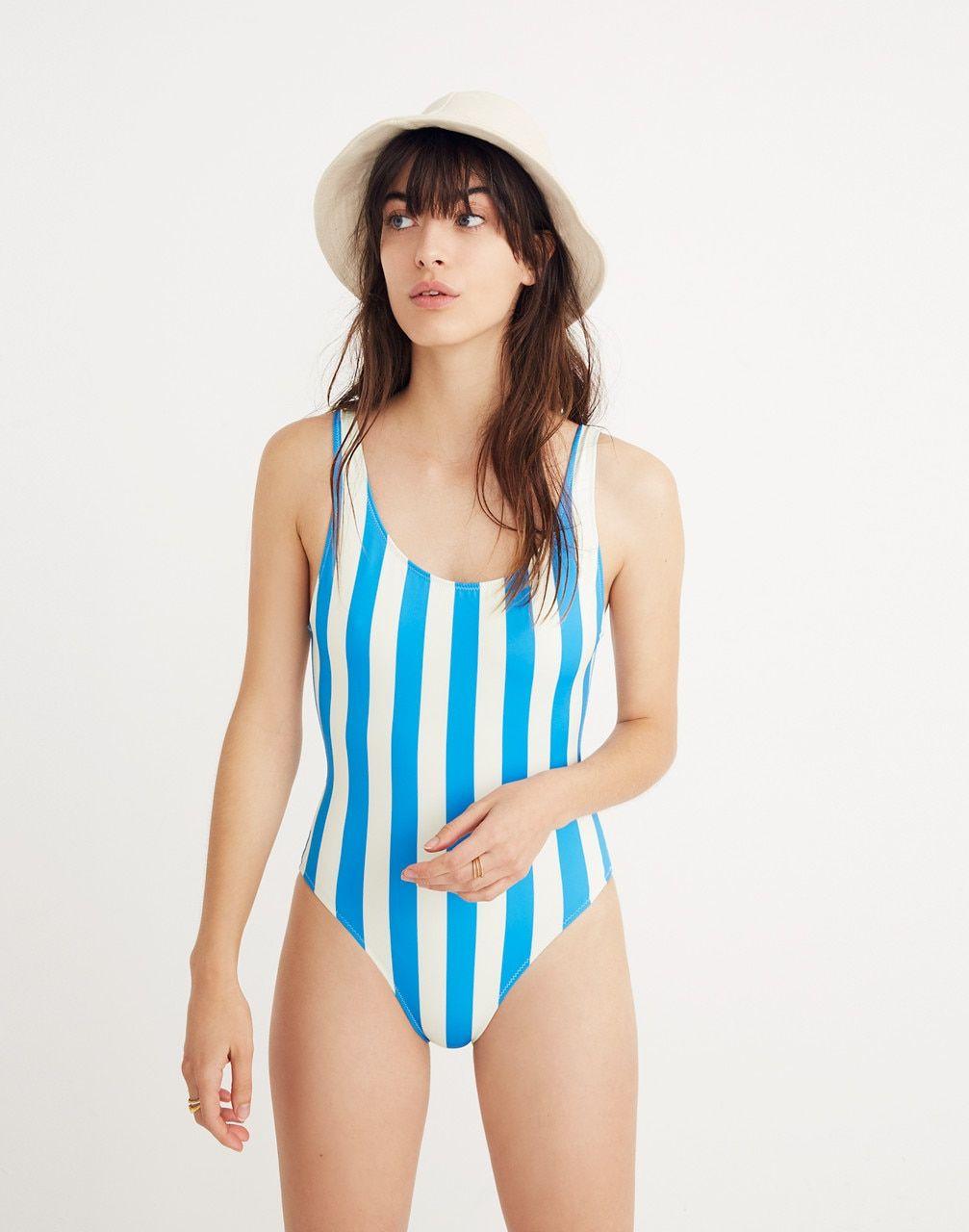 ff2970c3527a7 Solid & Striped® Anne-Marie One-Piece Swimsuit in Sea Stripe in sea stripe