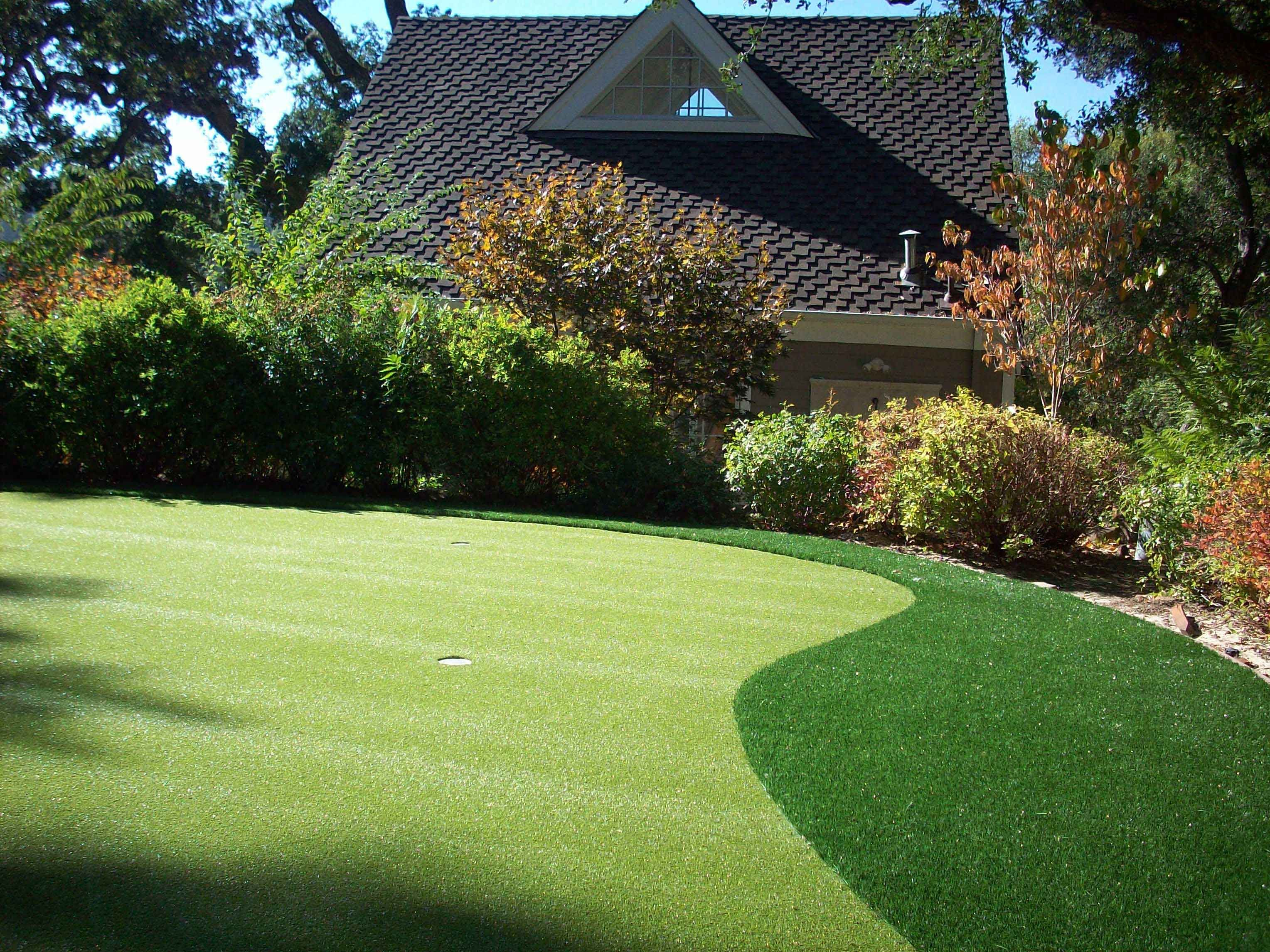 is it safe for kids to play in my backyard putting green your