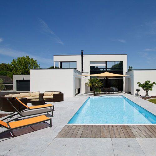 terrasse en bois pour piscine Idées pour la maison Pinterest