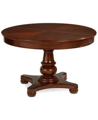 Expandable Dining Table bordeaux pedestal round expandable dining table | bordeaux, round