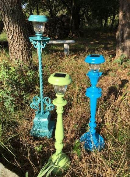 Garden art crafts solar lights 57 Ideas