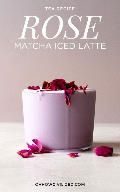 Photo of Iced Matcha Rose Latte