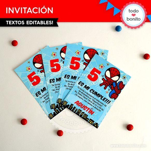 Hombre Araña Invitación Para Imprimir Invitaciones Hombre