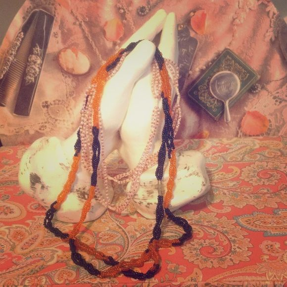 HANDMADE, BEADED, BRAIDED, NECKLACE DUO HANDMADE, BEADED, BRAIDED, NECKLACE DUO. From Mozambique, Africa Jewelry Necklaces