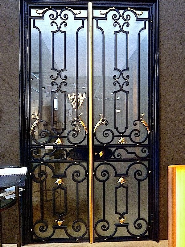 The Art Of Iron At Pouenat With Images Iron Door Design Front