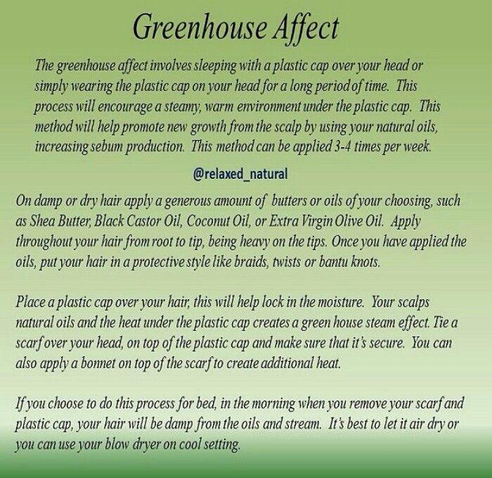 Greenhouse Effect Natural Hair Regimen