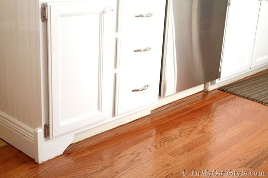 decorative accents: kitchen base cabinets with feet - in my own