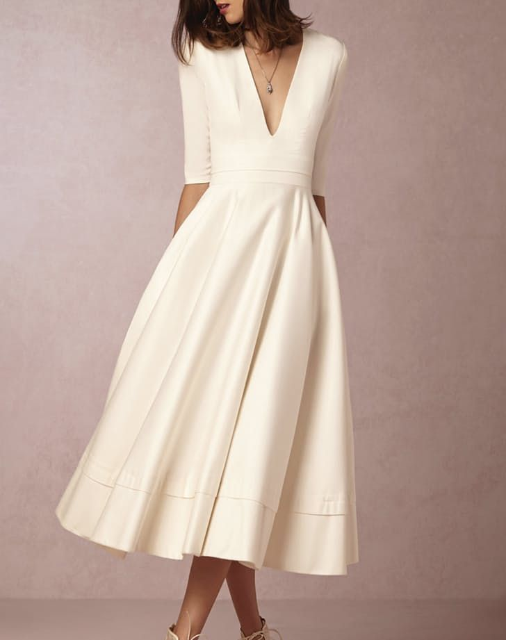 12 non traditional wedding dresses for the non basic bride for White dress after wedding