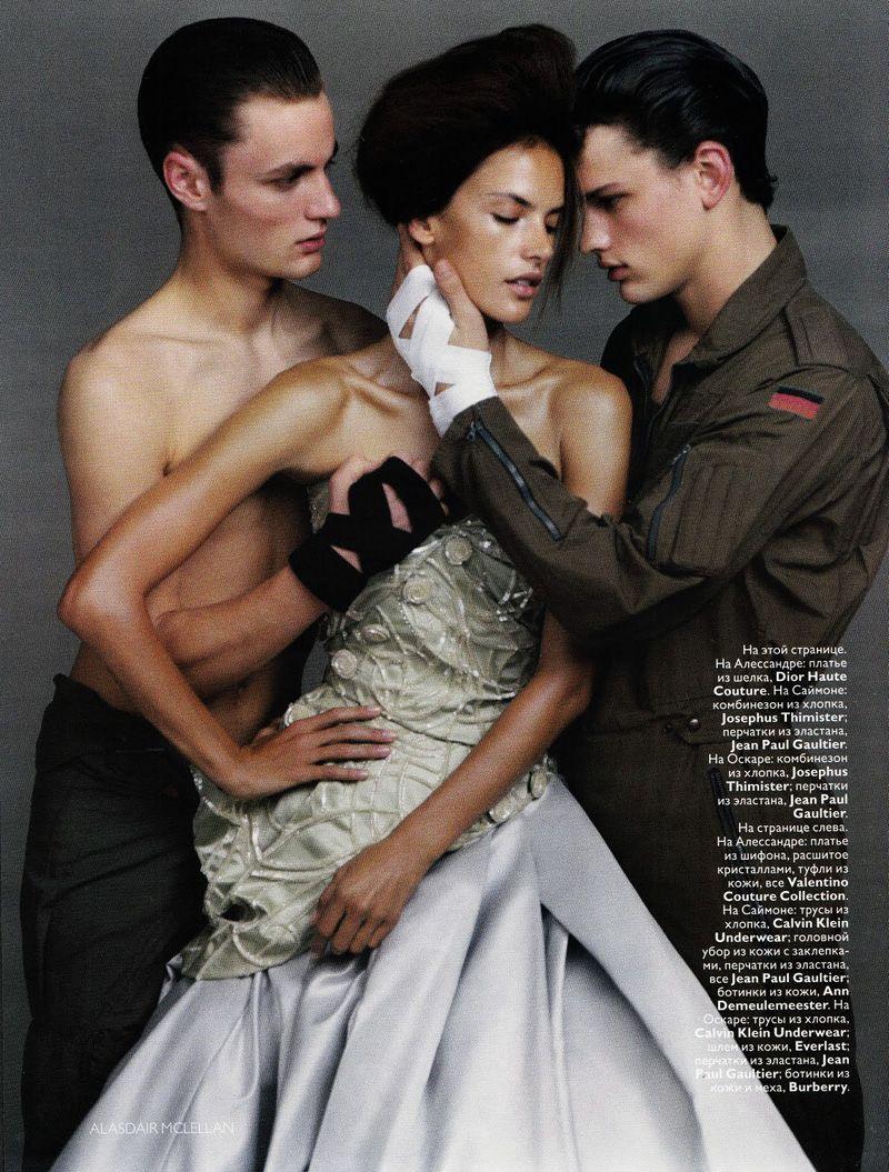 lovematch6 Simon Nessman & Oskar Tranum by Alasdair McLellan | Vogue Russia iAlessandra Ambrosio in Christian Dior Haute Couture