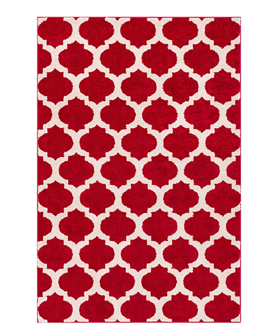 This Red Mystic Modern Trellis Area Rug by Well Woven is perfect! #zulilyfinds