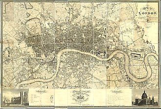 Sections Of London Map.Greenwood S Map Of London 1827 Click On Different Sections To Zoom
