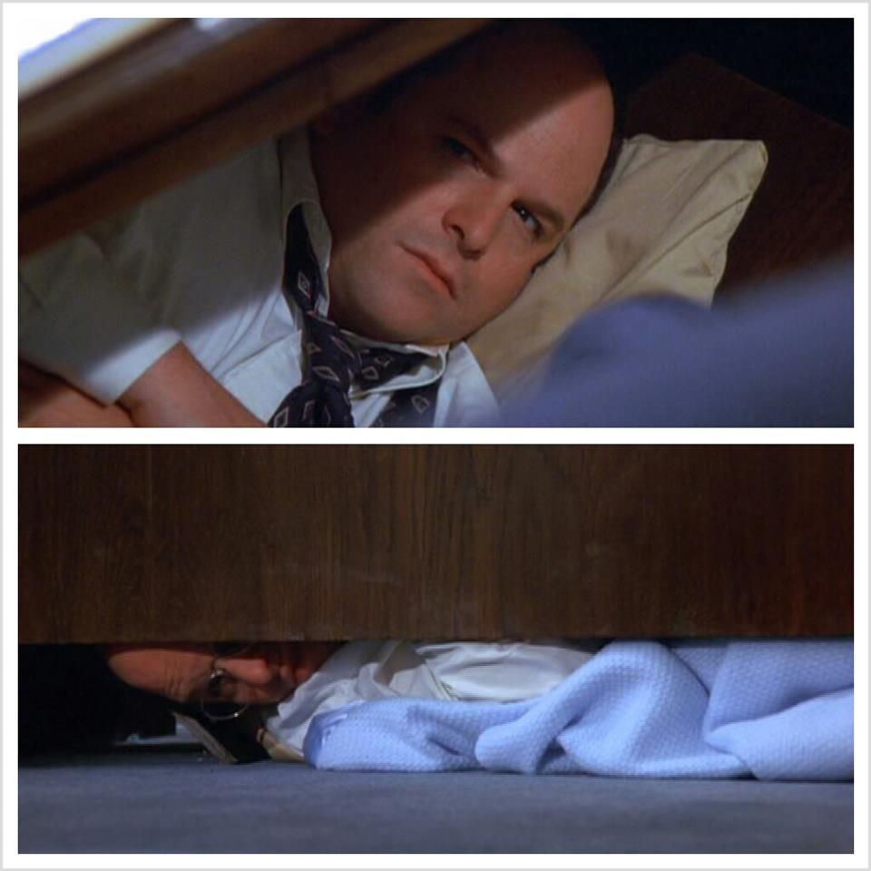 George At Work Taking Aking A Nap Under His Desk Costanza Seinfeld