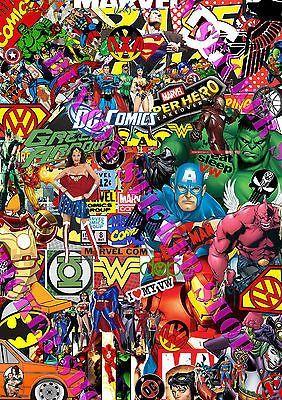 Sticker Bomb Marvel Dc Comics Euro Drift Vinyl Decal Vw Golf Dub Superman Batman