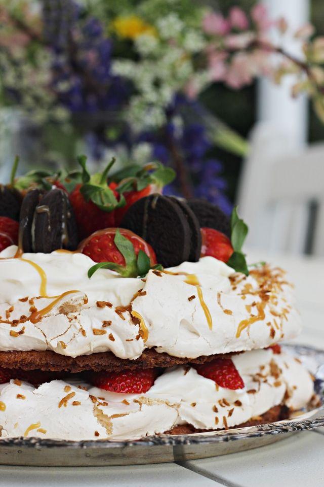 LA PETITE PRINCESSE: Vinkki kesäjuhlien kakkupöytään - kinuskinen britakakku. / gluteeniton / glutenfree