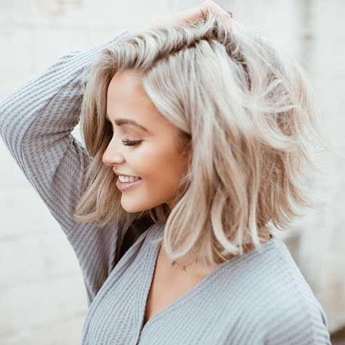 Kurze Frisur für Frauen mit ovaler Gesichtsform - Kurze Haare 2020