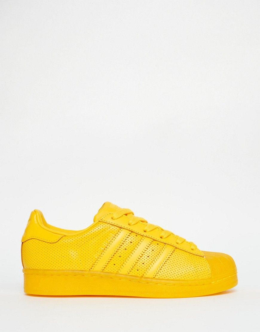 huge selection of 05b95 85469 ... adidas Originals Superstar Super Color Yellow Sneakers ...