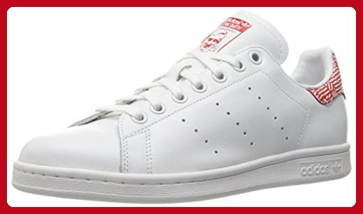 adidas Originals Women's Stan Smith w Fashion Sneaker, White/White/Collegiate Red, 11 M US - Our favorite sneakers (*Amazon Partner-Link)