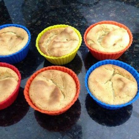 Bolinho de chuva com sabor de amêndoas (Dukan) - #Receitas #Culinária #Nutrição #Dukan #Dieta #Fitness