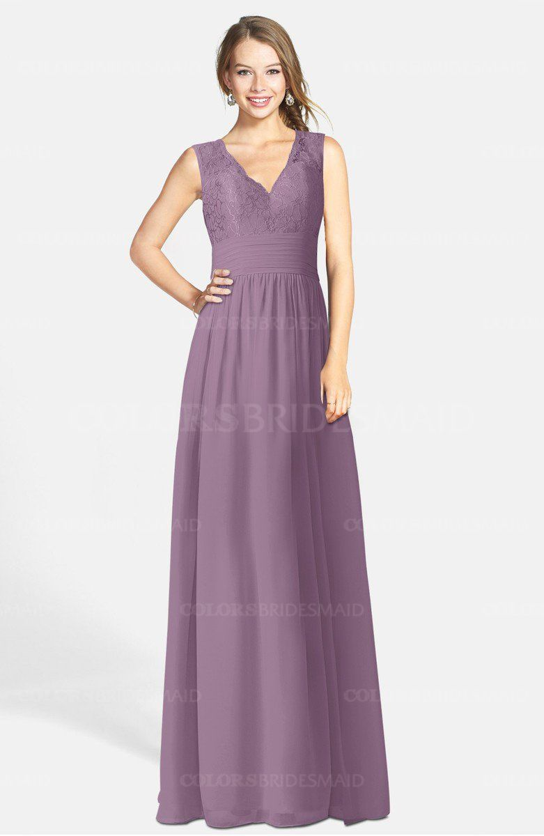 Colsbm Ciara A Line V Neck Zip Up Chiffon Bridesmaid Dresses Bridesmaids Bridesmaiddress Weddings