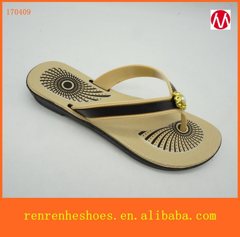 2a7c6d34251b3d 2017 newest design porpular pcu lady slippers flat flip flops