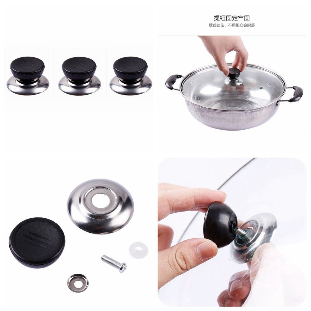 Replacement kitchen cookware pot saucepan pan lid hand grip knob handle cover