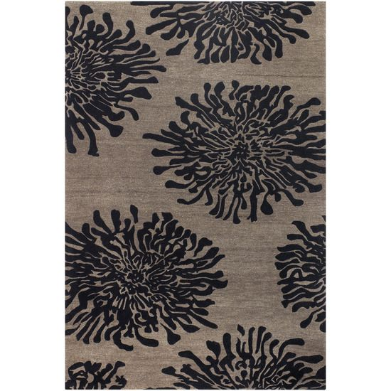 Surya Bst496 913 Ay Rug 100 Pct New Zealand Wool Hand Tufted Light Brown Black 9x13 Review Now