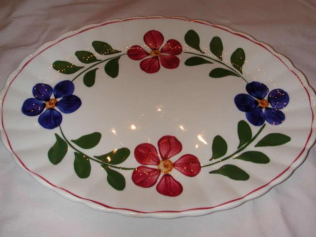 Image detail for -Blue Ridge Pottery Colette Platter. from scottantiques on Ruby Lane