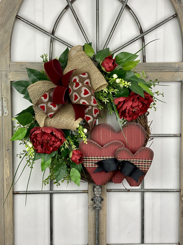Rustic Valentine Grapevine Front Door Wreath