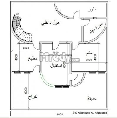 المبدعون Designers خرائط بيوت واجهة 14 متر Square House Plans Town House Plans House Plan Gallery