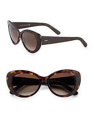 56MM Tortoise Cat's-Eye Sunglasses