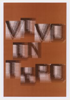 "Print, Design for ""Vivo in Typo"" Poster on Red  Ground, 2008"