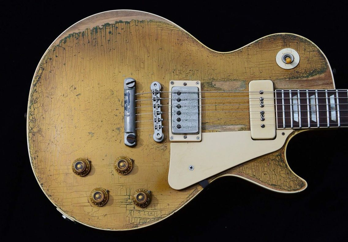 Vintage Les Paul With The Best Of Both Worlds A P90 Pickup And A Humbucker Pickup 1956 Meet 1957 Guitar Les Paul Guitars Les Paul