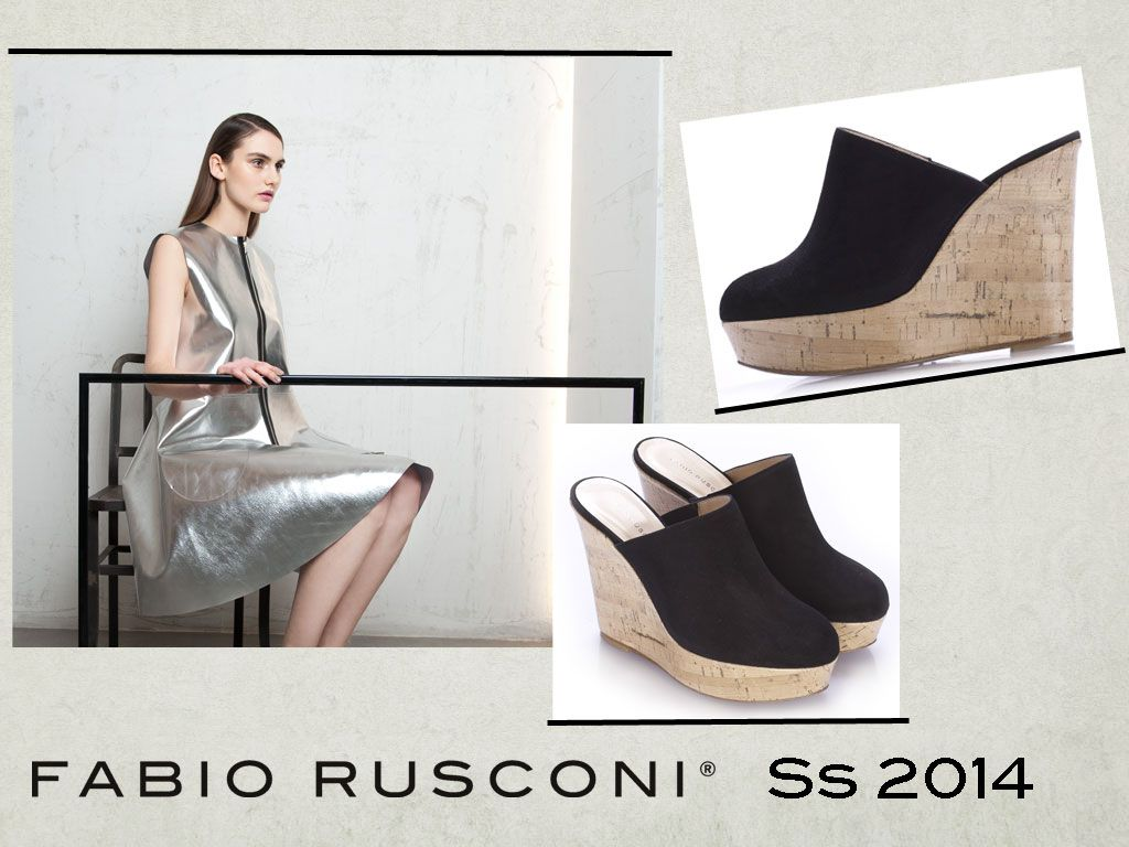 Black suede #sabot #wedgies by #FabioRusconi. This #summer, wear #MadeInItaly!  Available in our webstore: http://www.fabiorusconishop.com/new-collections-85/zeppa-sabot.html