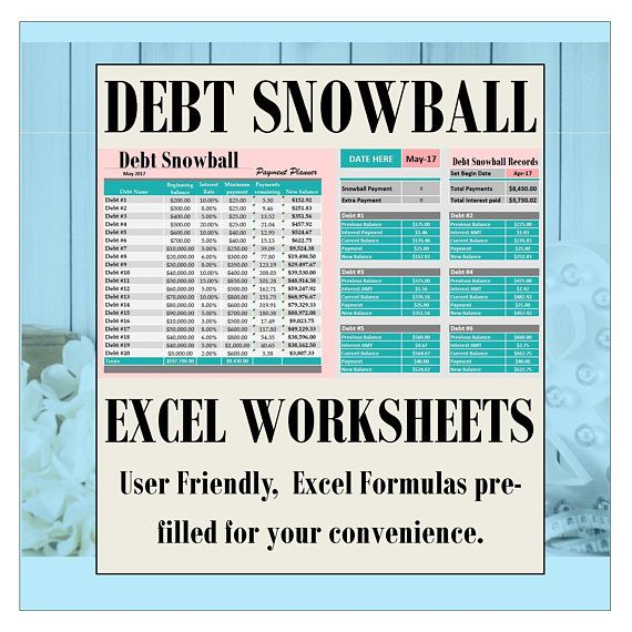 Debt payoff excel spreadsheet debt snowball debt planner Burlap
