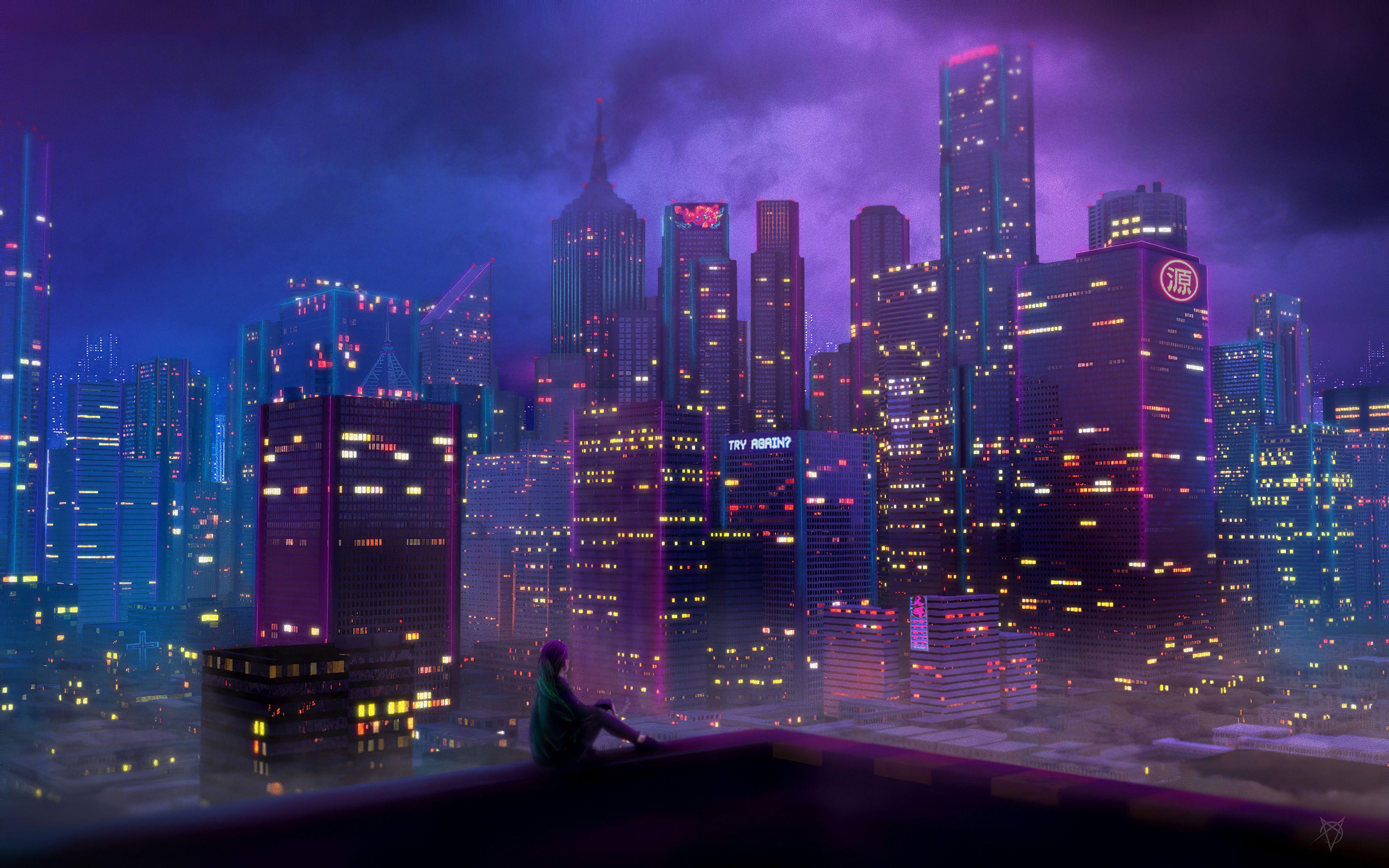 Anime City Girl In 2020 Anime Wallpaper Phone Anime City Hd Anime Wallpapers