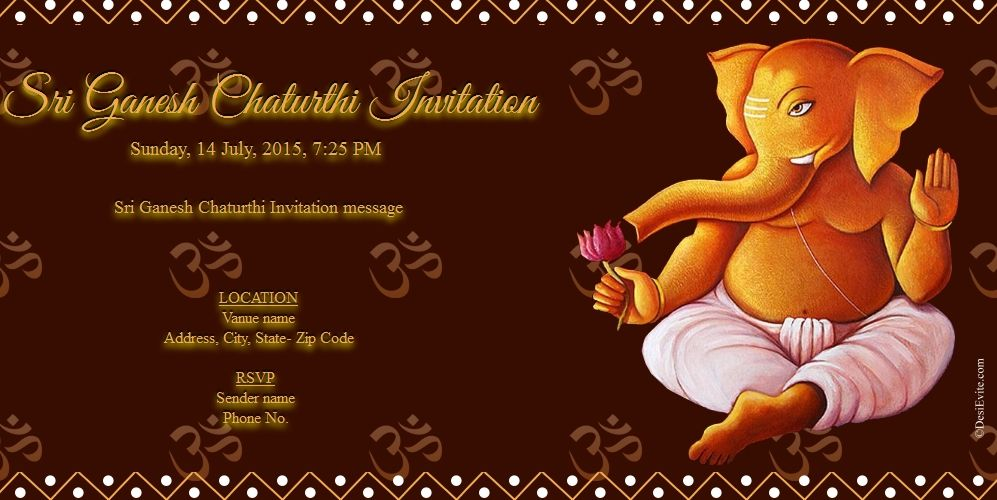 Click To Close Image Click And Drag To Move Use Arrow Keys For Next And Ganpati Invitation Card Invitation Cards Invitations