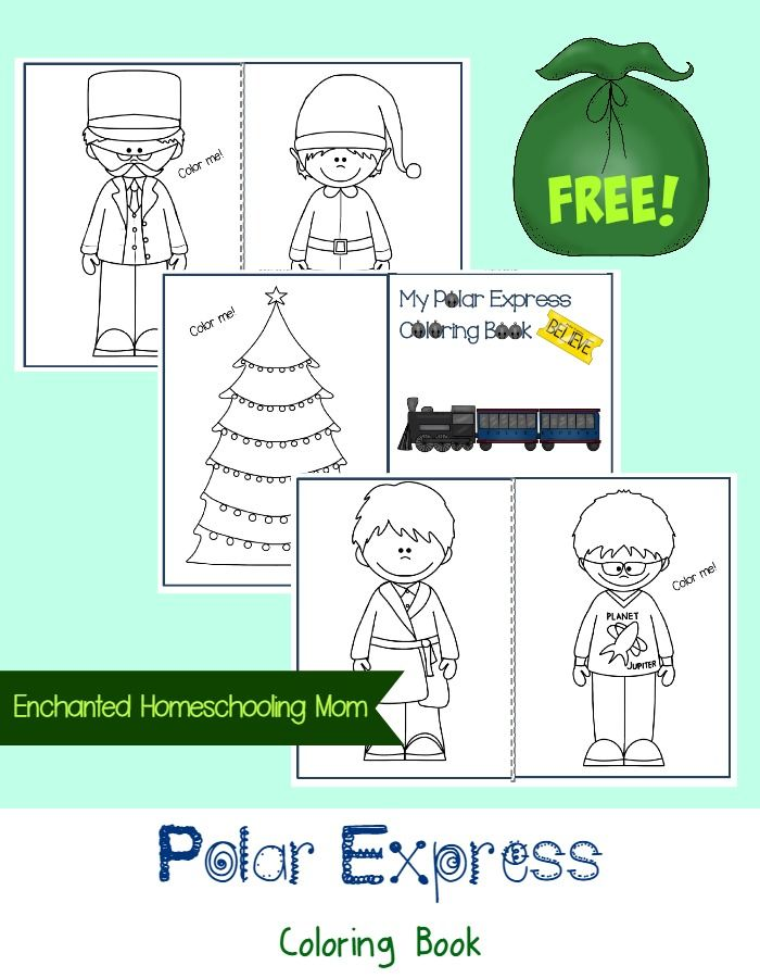 FREE Polar Express Coloring Book | Children\'s Book Related Crafts ...